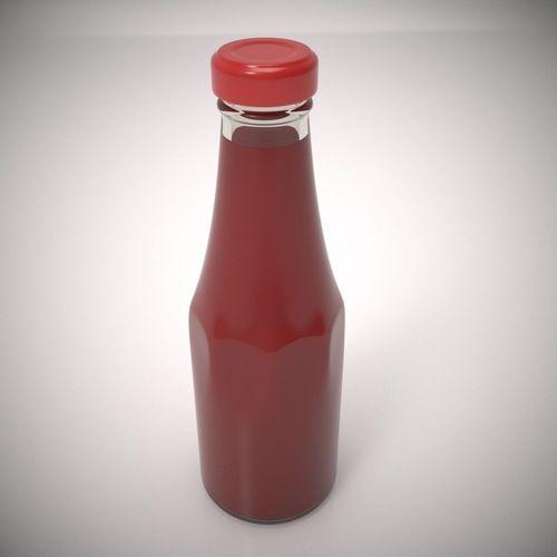 ketchup bottle 3d model max obj mtl 1