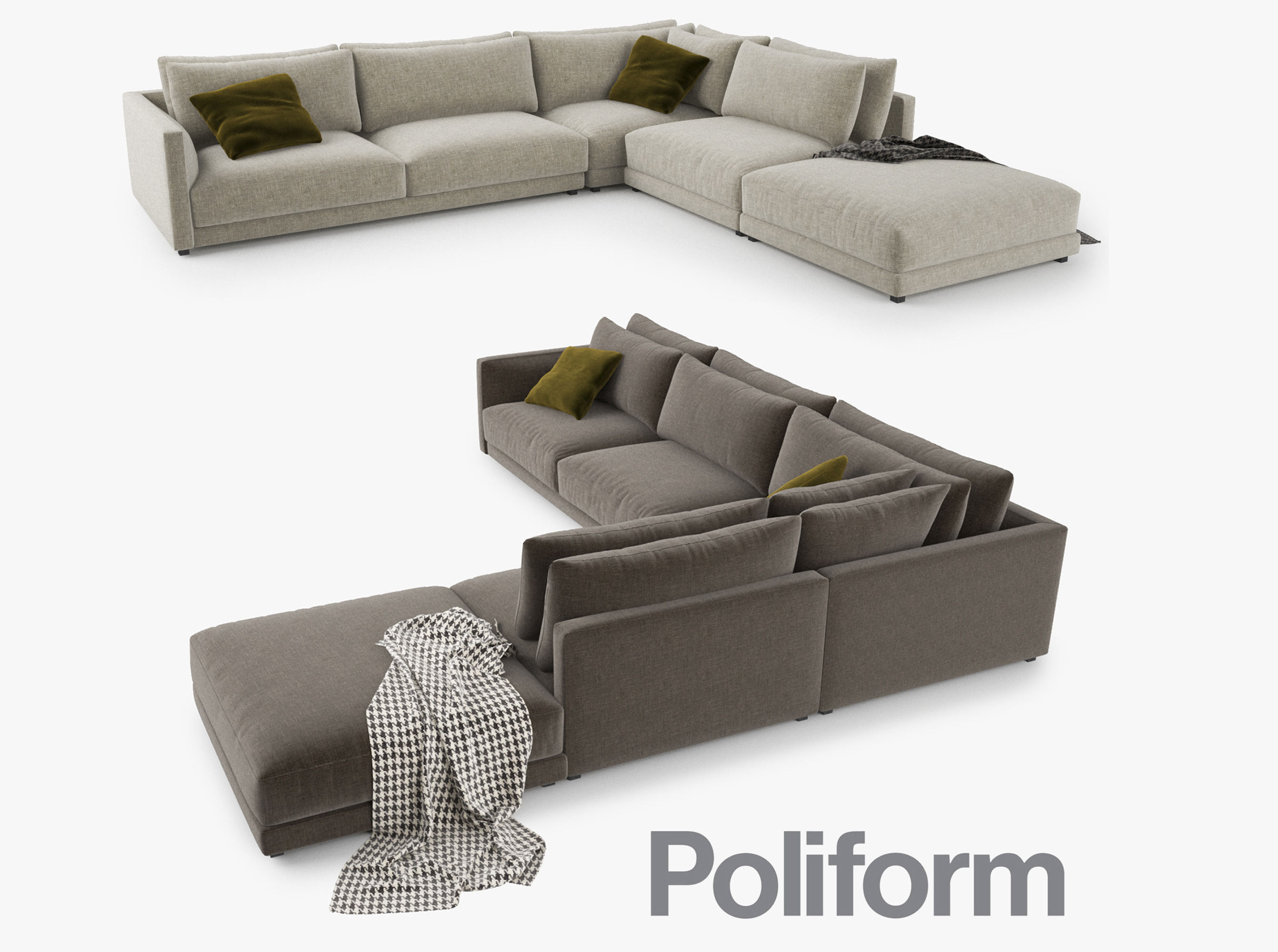 Poliform Bristol Sofa 3D Model