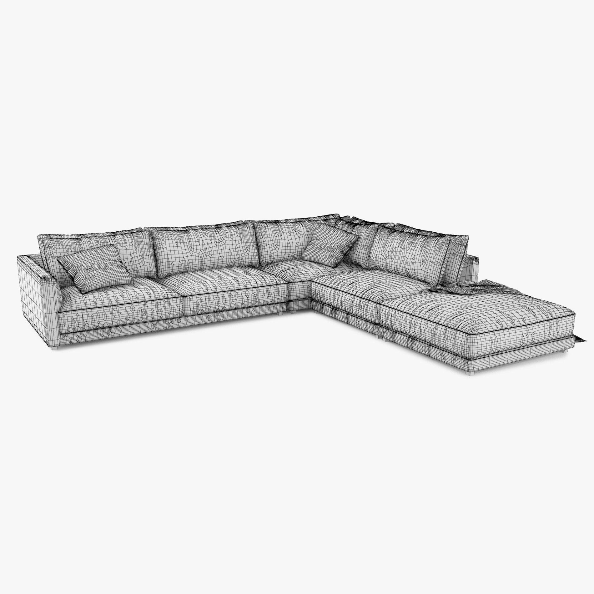 ... poliform bristol sofa 3d model 3d model max obj mtl 3ds fbx 9 ...