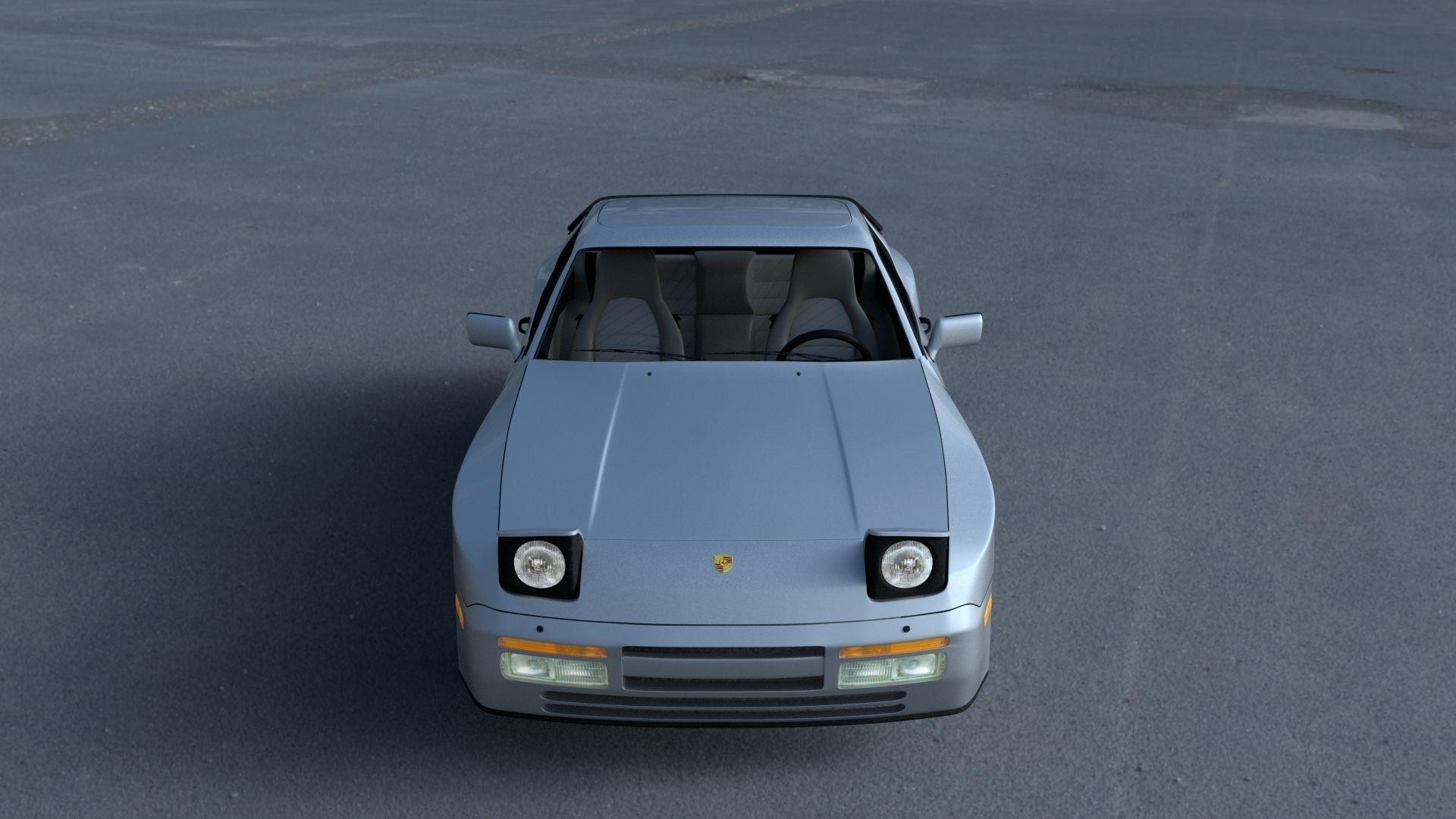 Porsche 944 s2 with interior hdri 3d model obj fbx stl for Porsche 944 interieur