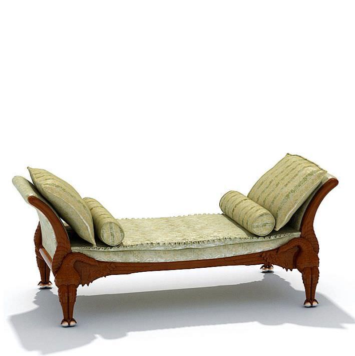 Elegant Antique Chase Lounge 3d Model