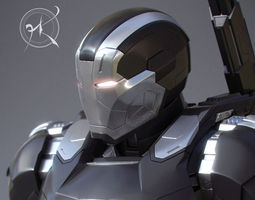 3d printable model war machine mk 3 - captain america civil war