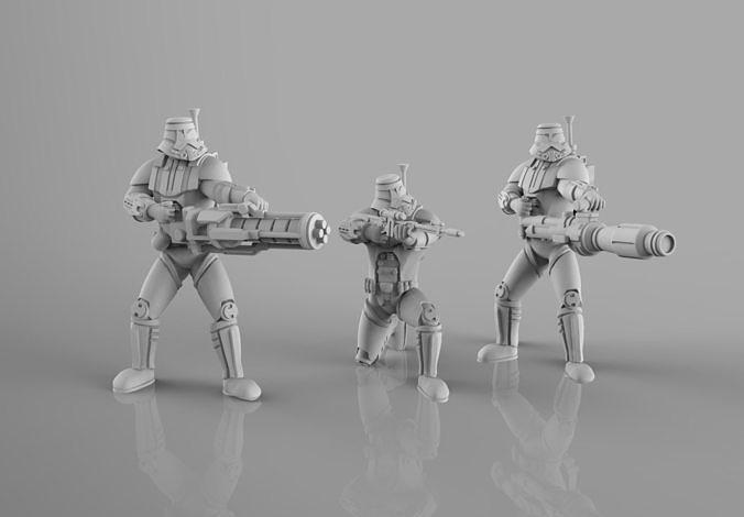 Old Dark Troopers Heavy Weapons Team