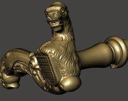 3d model ancient door handle door latch door knob