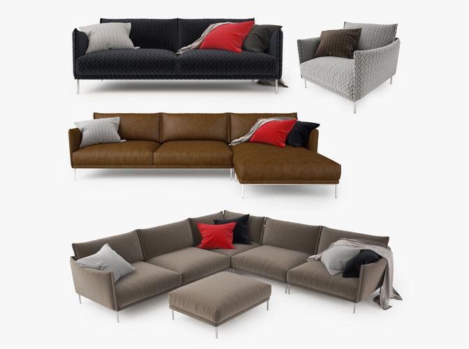 moroso gentry sofa collection 3d model max obj mtl fbx tga 1