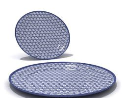 Blue Ornamented Plates 3D model