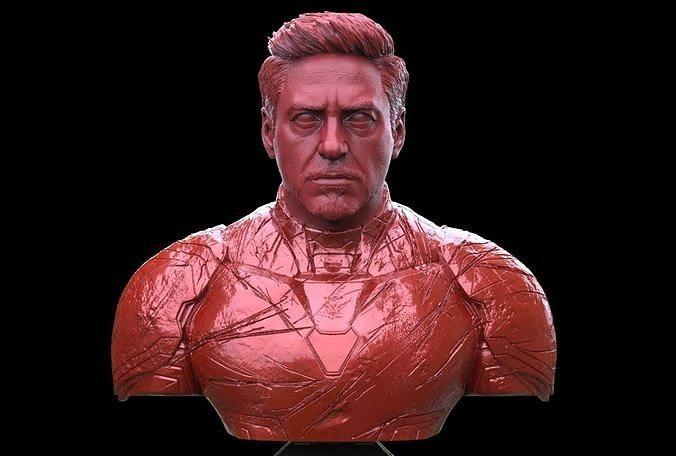 Iron Man Robert Downey Junior Bust