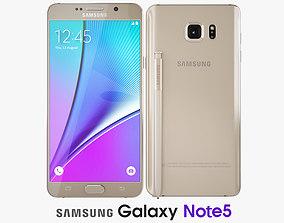 3D Samsung Galaxy Note5 Gold Platinum