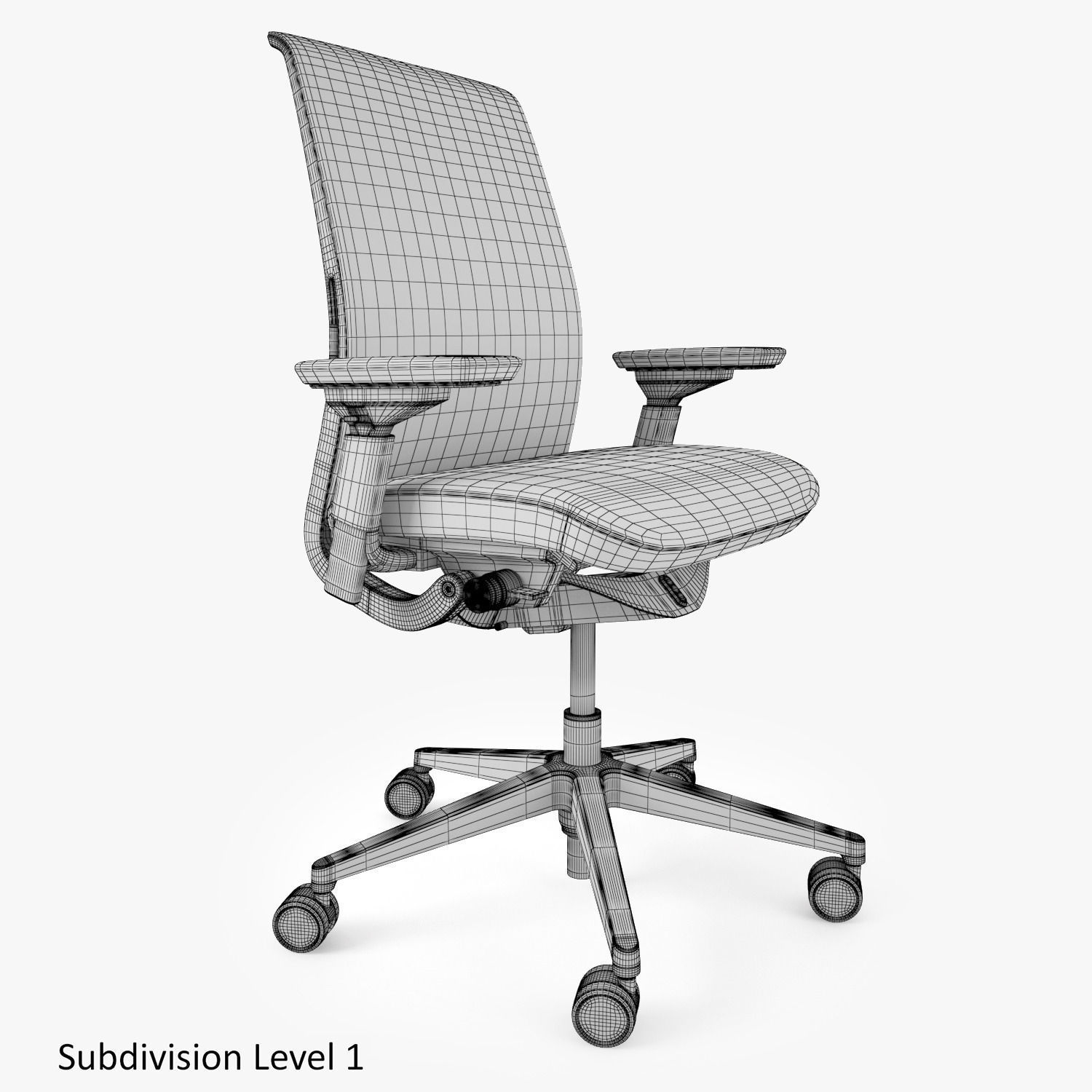 steelcase think office chair 3d cgtrader  sc 1 st  bracketsmackdown.com - Best Home Interior And Design Ideas & Think Chair 3d Review. best massage chair reviews 2018 2019 top 3 ...