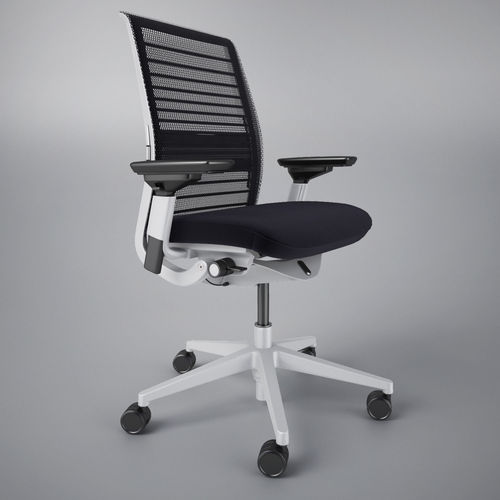 steelcase think office chair 3d cgtrader