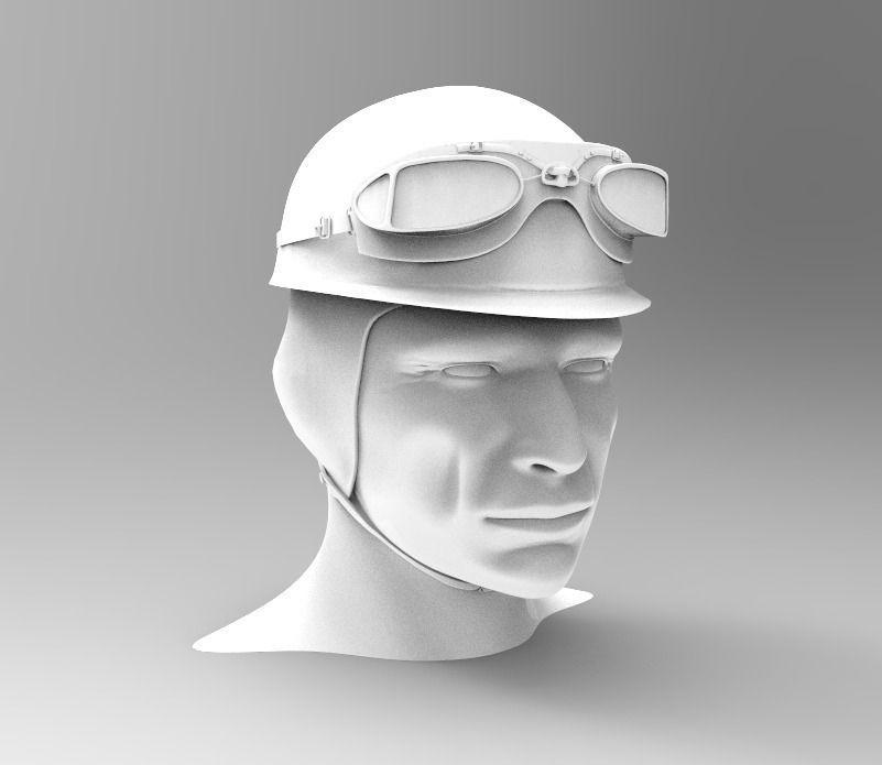1955 Formula 1 Driver Helmet JM Fangio