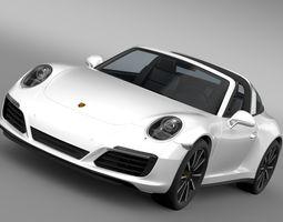 Porsche 911 Targa 4S 991 2016 3D