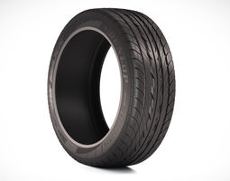 Photorealistic Car Tire  3D Model