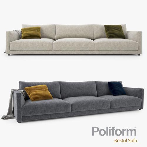 Poliform Bristol Three Seater Sofa Model