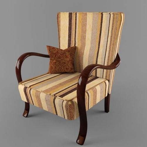 hungarian cultic armchair with bended arms from 50s 60s years  3d model max 1