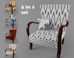 hungarian cultic armchair 5 in 1 set for 3 price 3d