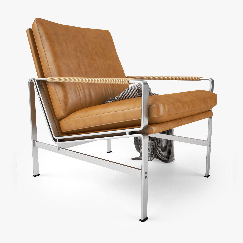 lange production fk 6720 sofa collection 3d model max obj. Black Bedroom Furniture Sets. Home Design Ideas