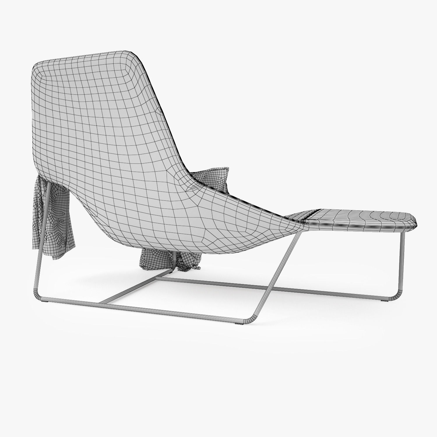 Zanotta Lama Lounge Chair 3D model   CGTrader on chaise recliner chair, chaise furniture, chaise sofa sleeper,