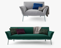3D Jardan Lewis Sofa and Armchair