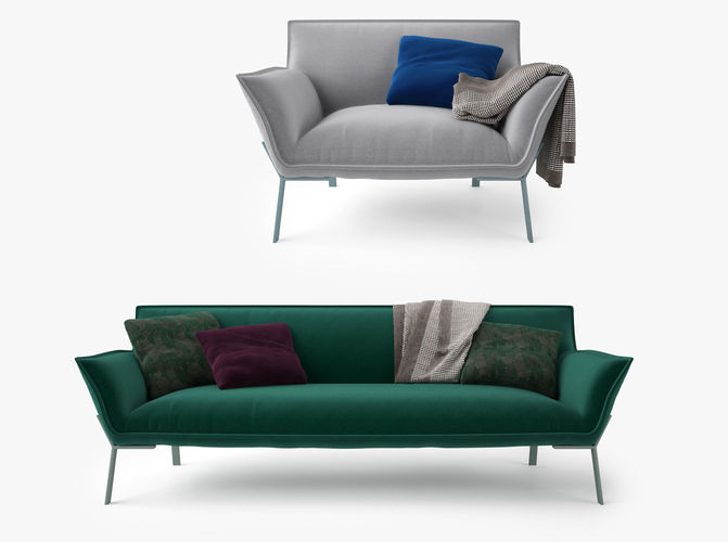 3d Jardan Lewis Sofa And Armchair Cgtrader