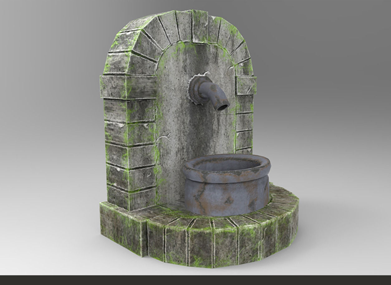 Ancient Roman Water Fountain
