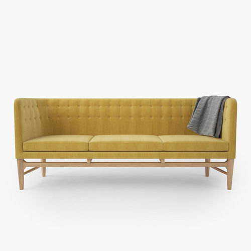Mayor Sofa By Arne Jacobsen Model Max Obj Fbx Mtl 3