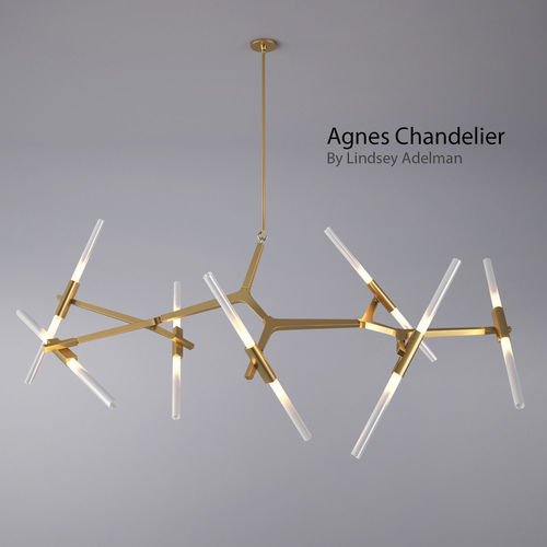 agnes chandelier - 14 bulbs by lindsey adelman 3d model max obj mtl fbx 1