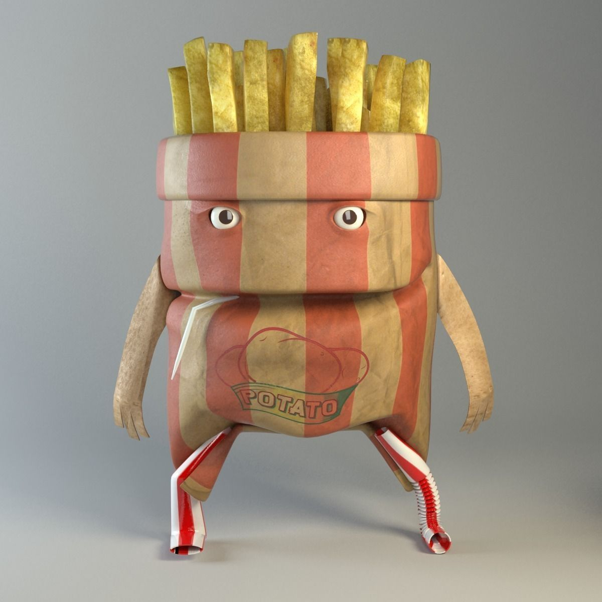 French Fry Hooligan Food creatures series