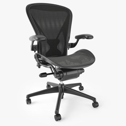 top 5 best ergonomic office chairs 3d model max obj fbx mtl 11