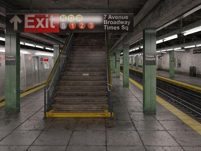 nyc subway station 3d model max obj mtl 3ds fbx c4d lwo lw lws 1