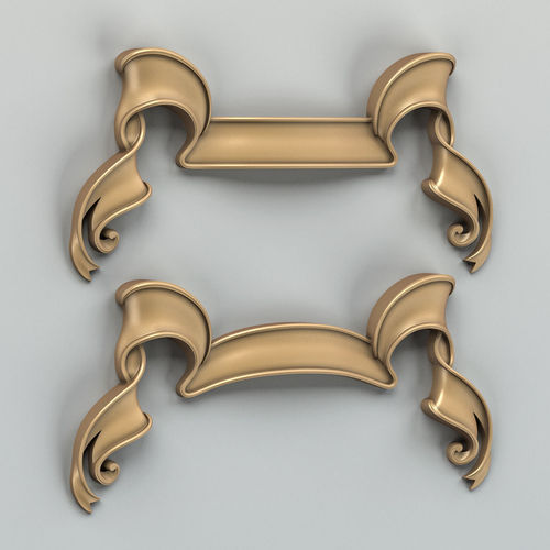 decorative ribbon 002 3d model max obj fbx stl 1