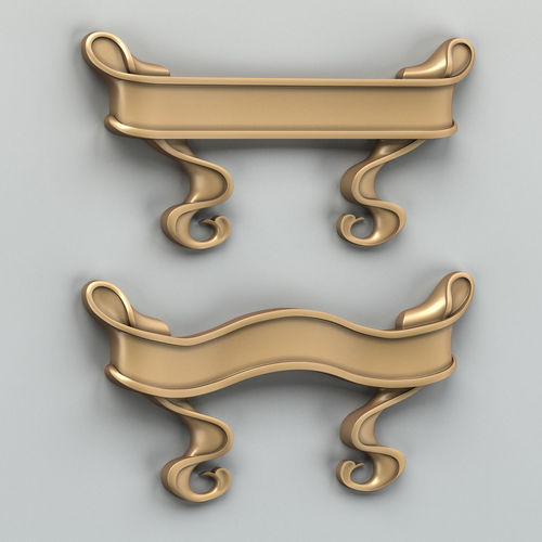 decorative ribbon 003 3d model max obj fbx stl 1