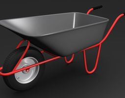 wheelbarrow1 3d model max
