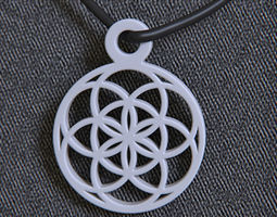 3d print model seed of life pendant
