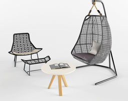 garden furniture lounge 3d - Garden Furniture 3d