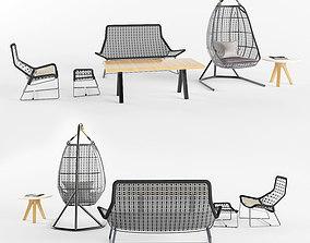 3D model garden furniture set 1