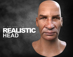realistic head  realtime 3d asset