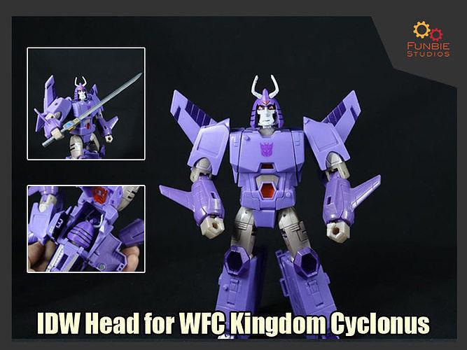 IDW Head for Transformers WFC Kingdom Cyclonus