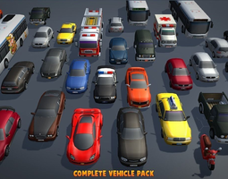 3d model realtime complete vehicle pack v1