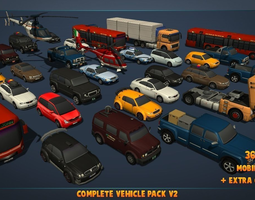 3D model Complete Vehicle Pack V2