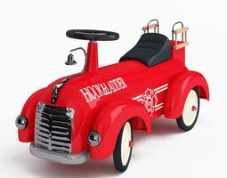 red toy truck 3d
