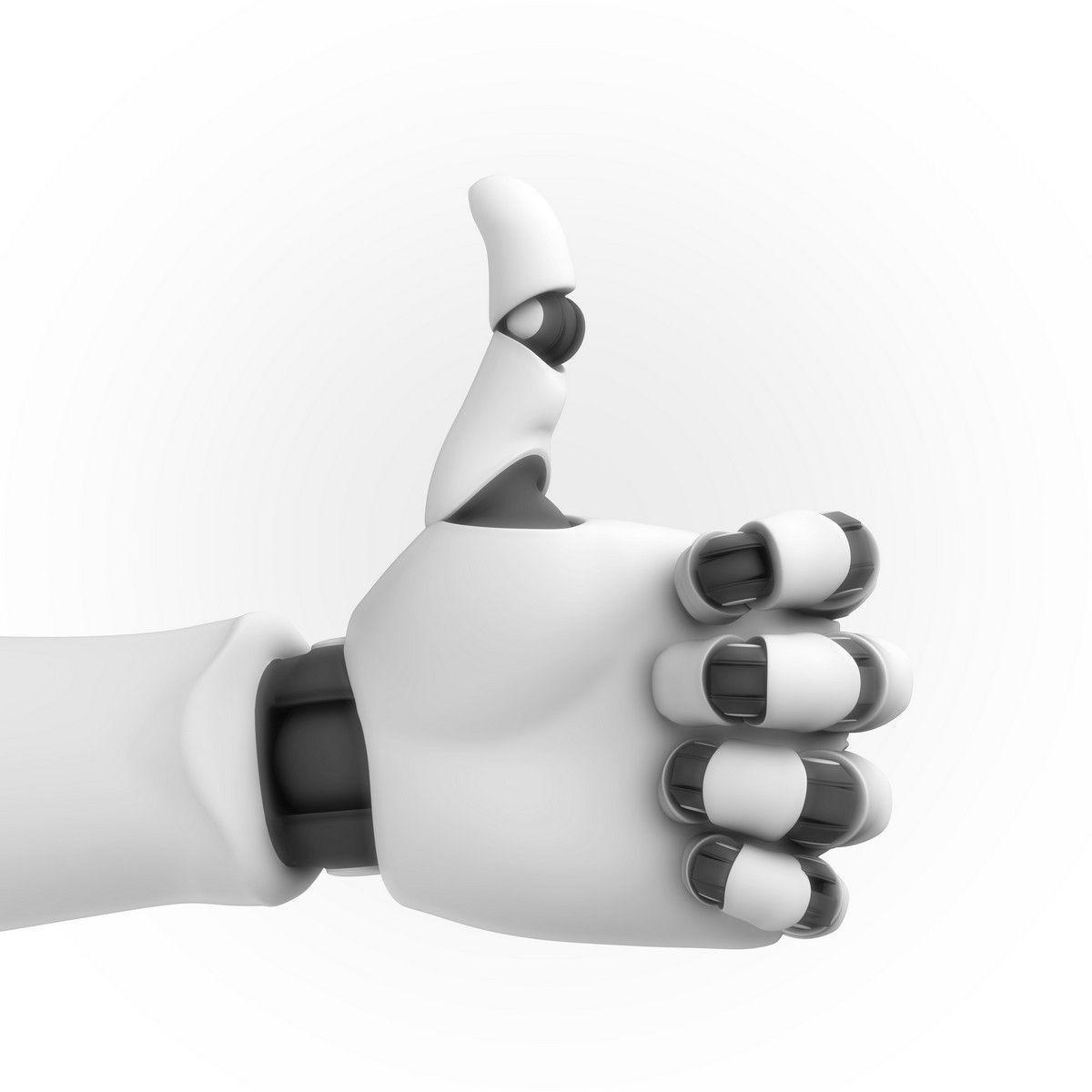 Robot Hand Rigged Animated