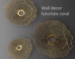 Wall decor futuristic coral Panel 3D