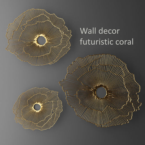 Perfect Wall Decor Futuristic Coral Panel 3D 3D Model