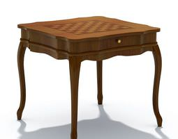 Classic Checkers Chess Table 3D