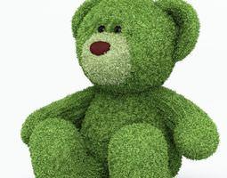 green teddy bear 3d