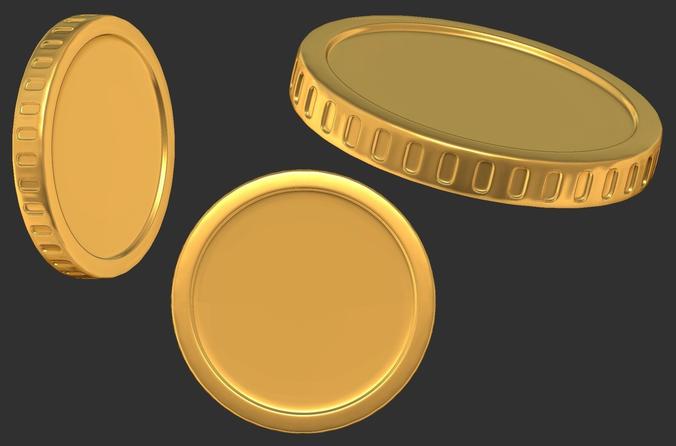 cash money coin 3d model obj ma mb stl wrl wrz 1