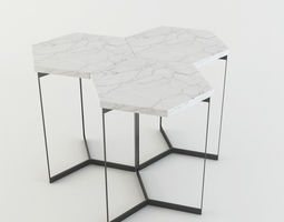 3D model Marble HexagonTable