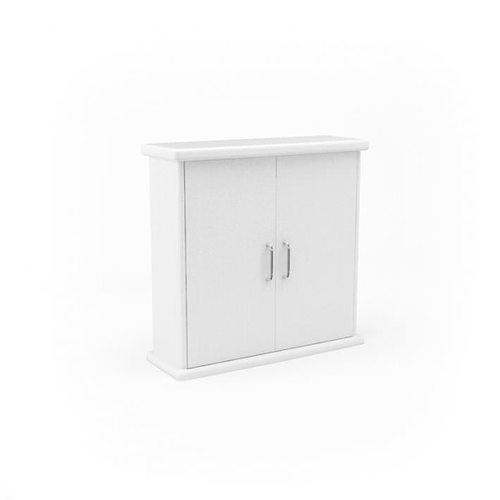 3d White Bathroom Cabinet Cgtrader