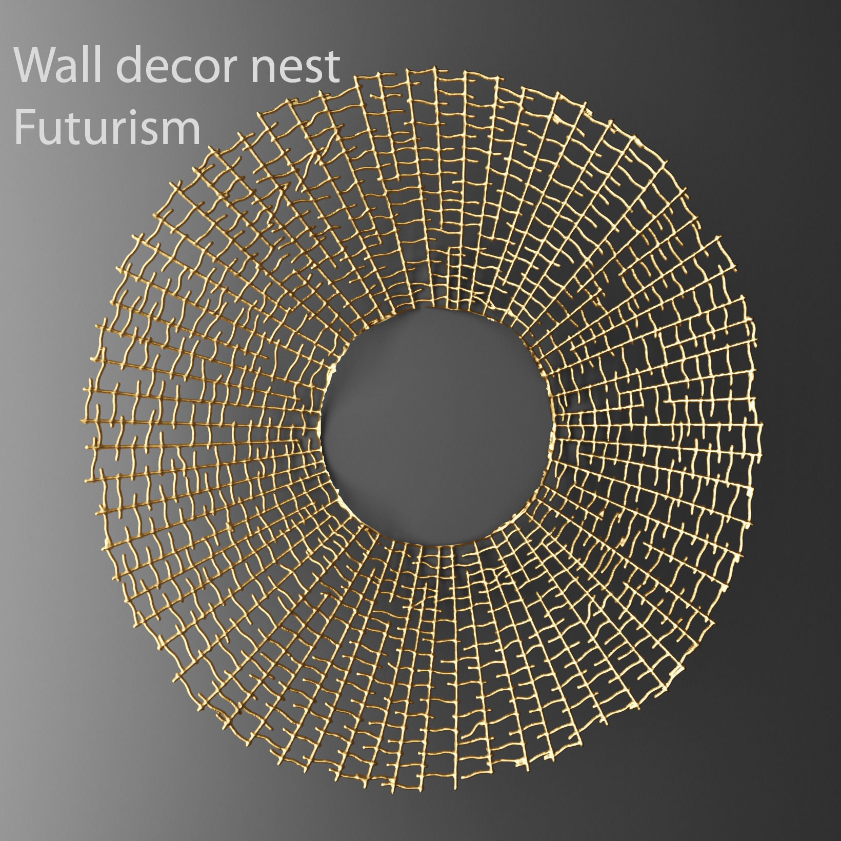 wall decor futuristic coral panel 3d 2 | cgtrader